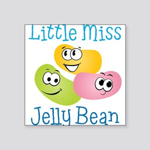 "Little Miss Jelly Bean Square Sticker 3"" x 3"""