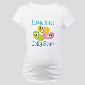 Little Miss Jelly Bean Maternity T-Shirt