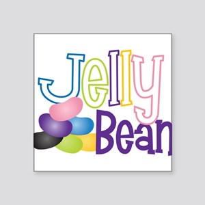 "Jelly Bean Square Sticker 3"" x 3"""