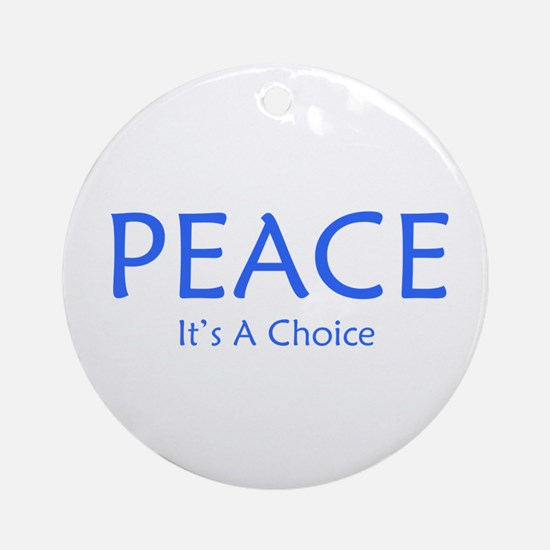 Choose Peace Ornament (Round)