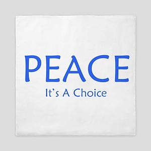 Choose Peace Queen Duvet