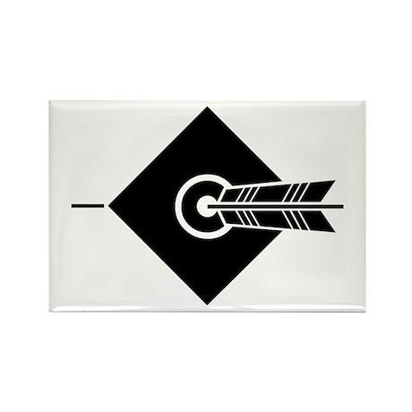 Arrow hit a target Rectangle Magnet (10 pack)