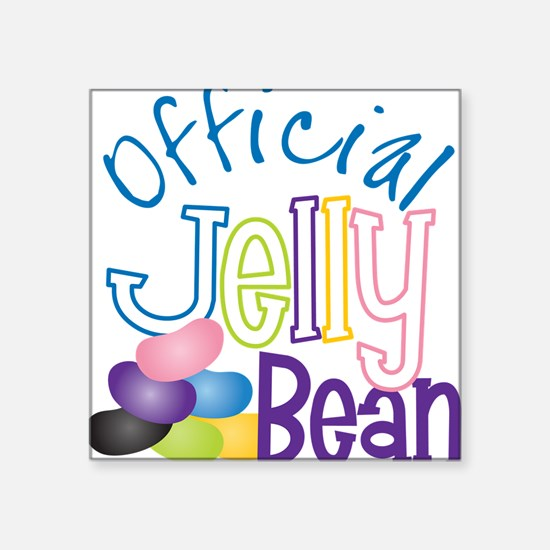 """Official Jelly Bean Square Sticker 3"""" x 3"""""""