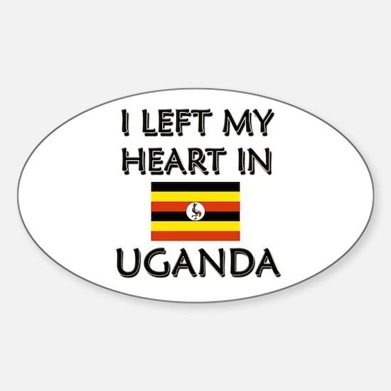 I Left My Heart In Uganda Oval Decal