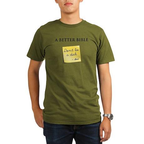 A Better Bible Organic Men's T-Shirt (dark)