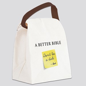 A Better Bible Canvas Lunch Bag