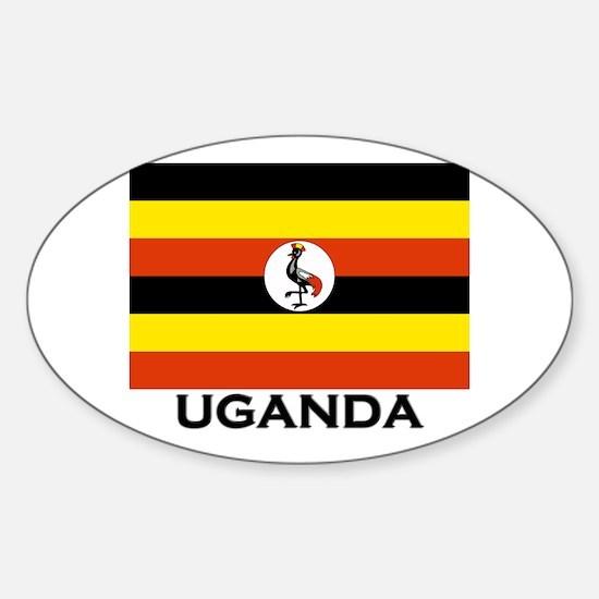 Uganda Flag Merchandise Oval Decal