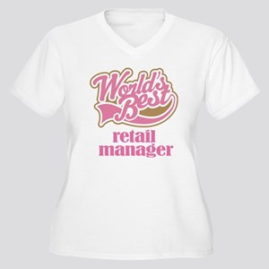 Retail Manager (Worlds Best) Women's Plus Size V-N