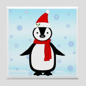 Christmas Penguin - Tile Coaster