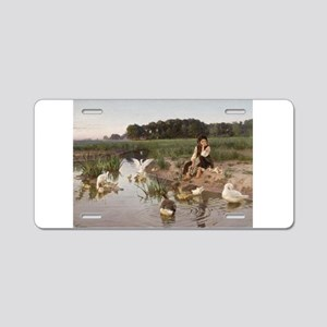 Daydreaming with the Geese Aluminum License Plate