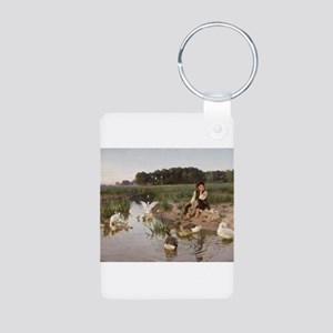 Daydreaming with the Geese Aluminum Photo Keychain