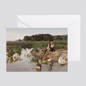 Daydreaming with the Geese Greeting Cards (Pk of 2