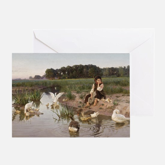 Daydreaming with the Geese Greeting Card