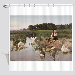 Daydreaming with the Geese Shower Curtain