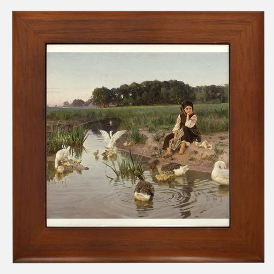 Daydreaming with the Geese Framed Tile
