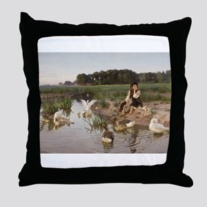 Daydreaming with the Geese Throw Pillow