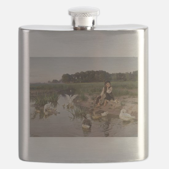 Daydreaming with the Geese Flask