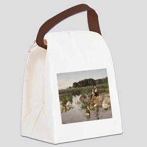 Daydreaming with the Geese Canvas Lunch Bag