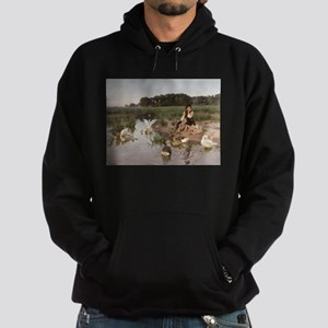 Daydreaming with the Geese Hoodie (dark)