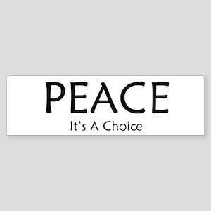 Choose Peace Sticker (Bumper)