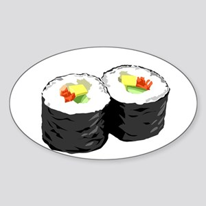 Sushi Sticker (Oval)