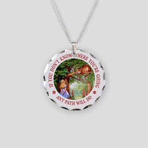 Any Path Will Do Necklace Circle Charm