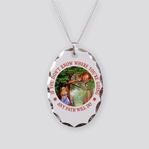 Any Path Will Do Necklace Oval Charm