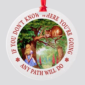 Any Path Will Do Round Ornament