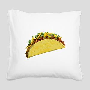 taco Square Canvas Pillow