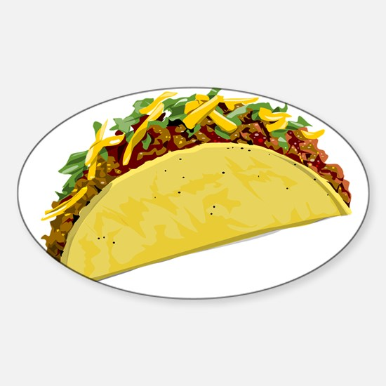 Taco Sticker (Oval)