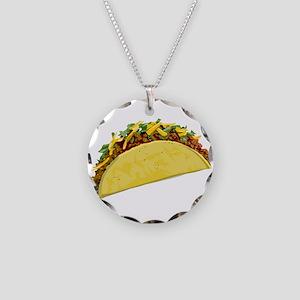 Taco Necklace Circle Charm