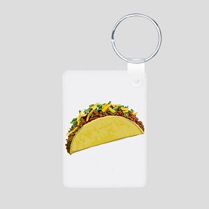 Taco Aluminum Photo Keychain