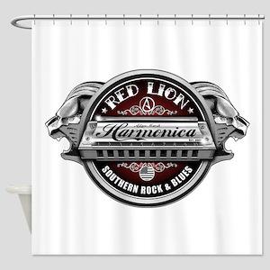 Red Lion Harmonica II Shower Curtain