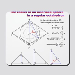 The radius of an inscribed sphere in octahedron Mo