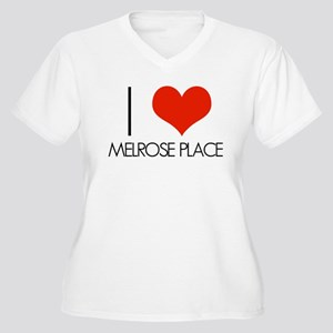 I Love Melrose Place Women's Plus Size V-Neck T-Sh