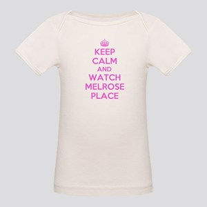Keep Calm and Watch Melrose Place Organic Baby T-S