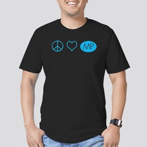 Peace Love Melrose Place Men's Fitted T-Shirt (dar