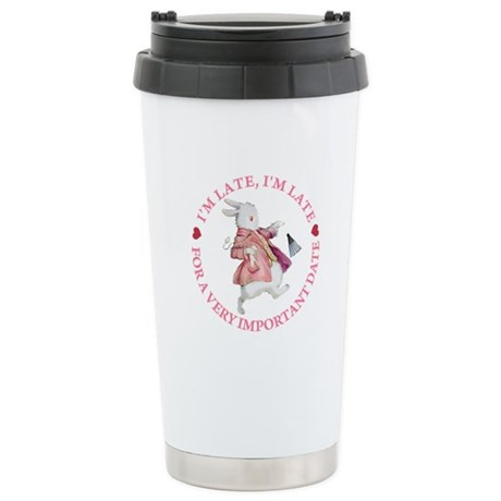 I'm Late, I'm Late! Stainless Steel Travel Mug