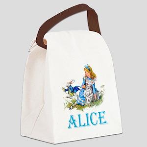 ALICE IN WONDERLAND - BLUE Canvas Lunch Bag