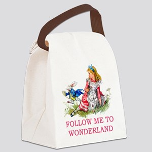 ALICE - Follow Me To Wonderland Canvas Lunch Bag