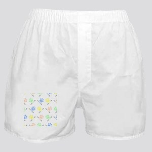Cat lover design cat paw prints color Boxer Shorts