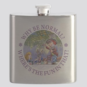MAD HATTER - WHY BE NORMAL? Flask