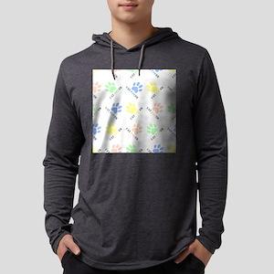 Cat lover design cat paw prints Mens Hooded Shirt