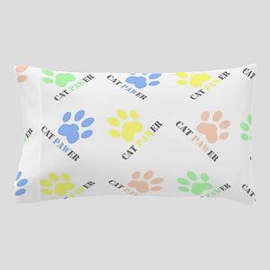 Cat lover design cat paw prints colorf Pillow Case