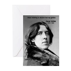Playwright Oscar Wilde Greeting Cards (Package of