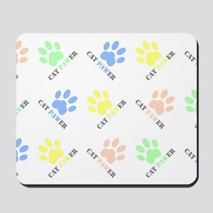 Cat lover design cat paw prints colorful Mousepad