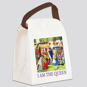 ALICE - I AM THE QUEEN_PURPLE Canvas Lunch Bag