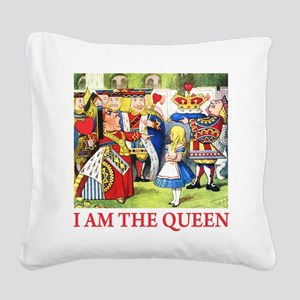 ALICE - I AM THE QUEEN Square Canvas Pillow