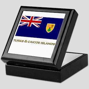 The Turks & Caicos Islands Flag Stuff Keepsake Box
