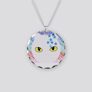 Cat Necklace Circle Charm